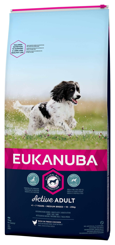 Eukanuba Active Adult Medium Breed kip hondenvoer