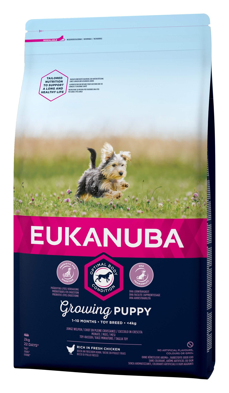 Eukanuba Dog Growing Puppy Toy Breed kip hondenvoer