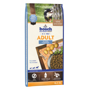 Bosch Adult Fisch & Kartoffel Hundefutter 15 + 3 kg Gratis