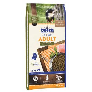 Bosch Adult Geflügel & Hirse Hundefutter 15 + 3 kg Gratis