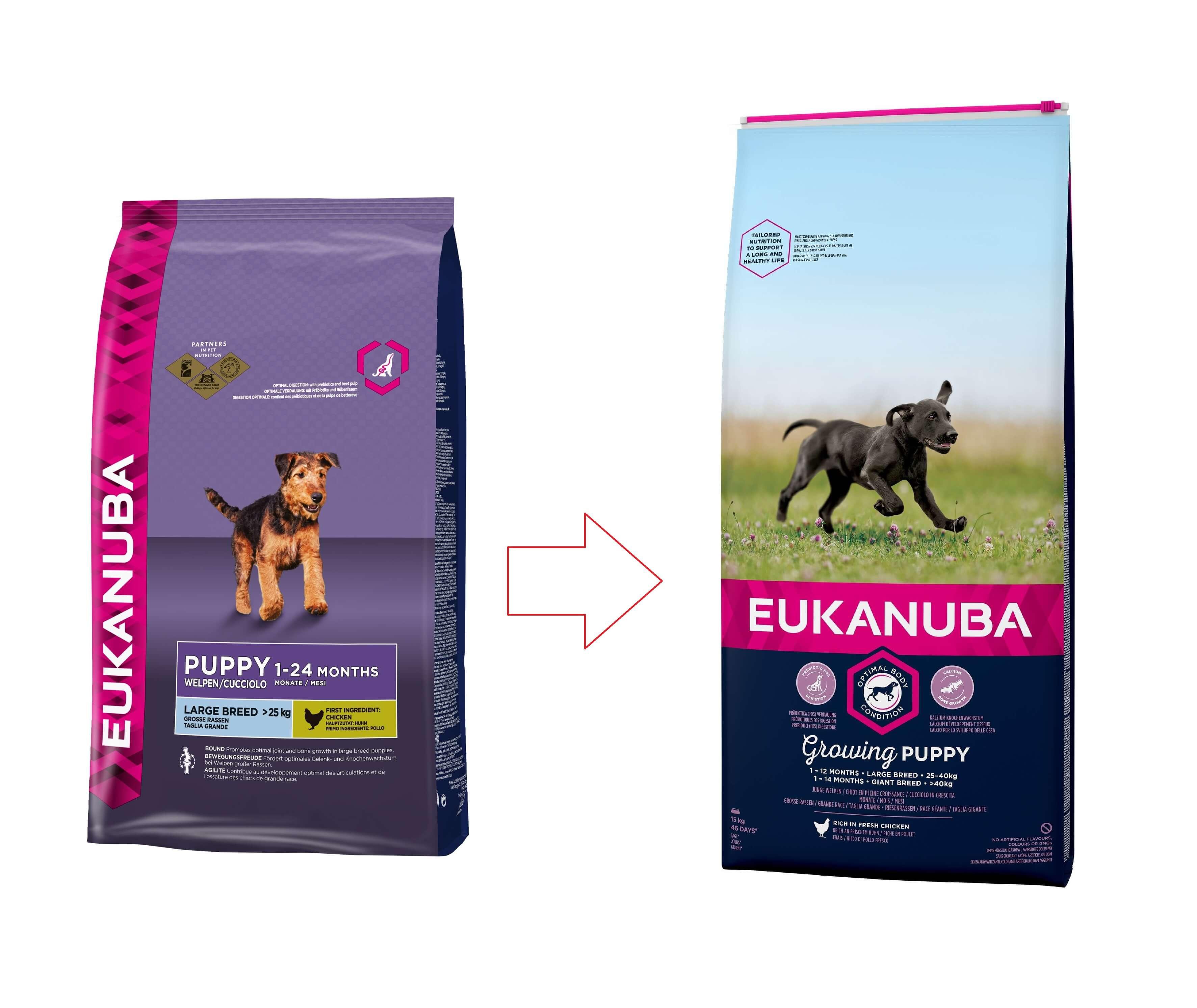 Eukanuba Puppy & junior Largebreed kip Hondenvoer