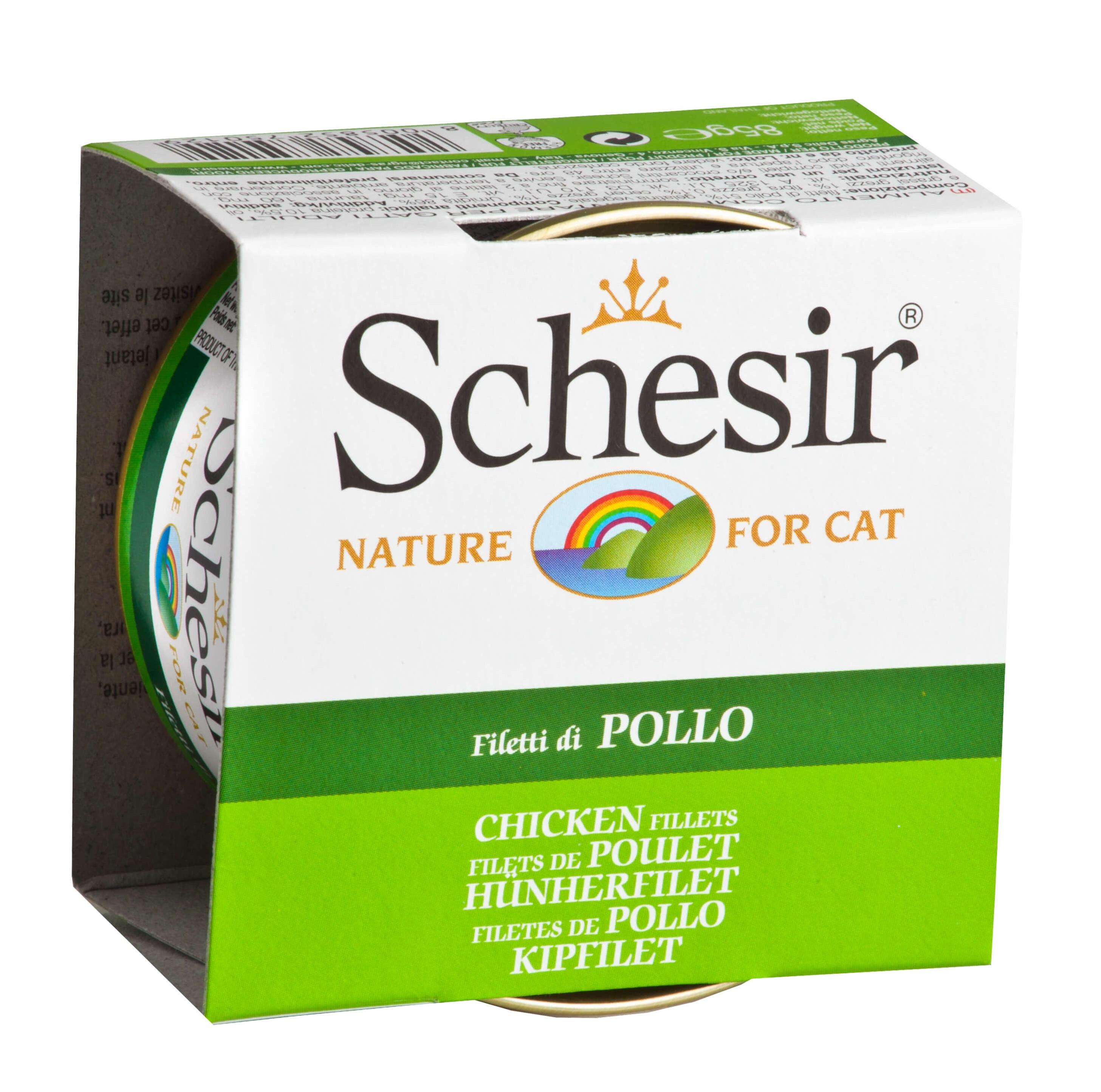 Schesir Hühnerfilet für Katzen