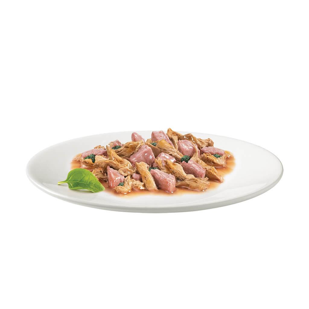 Gourmet Gold met zeevis in een saus met spinazie kattenvoer