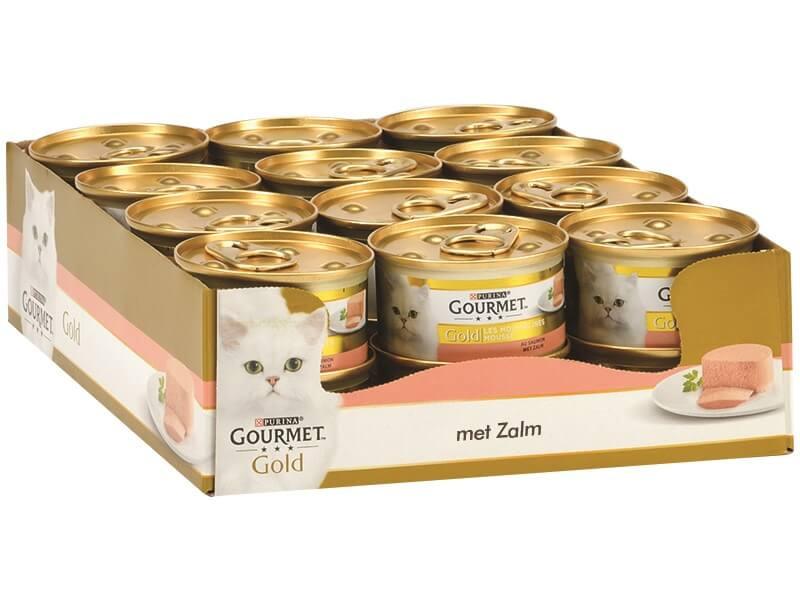 Gourmet Gold Mousse Lachs Katzenfutter