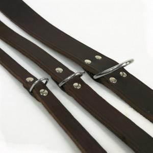 Lederhalsband Braun