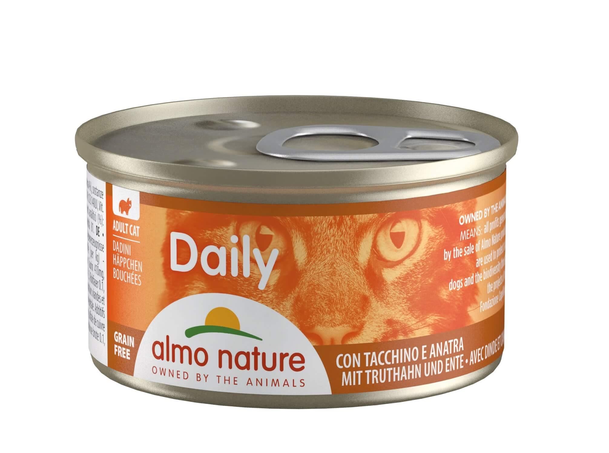 Almo Nature Daily Hapje met Kalkoen & Eend 85 gram