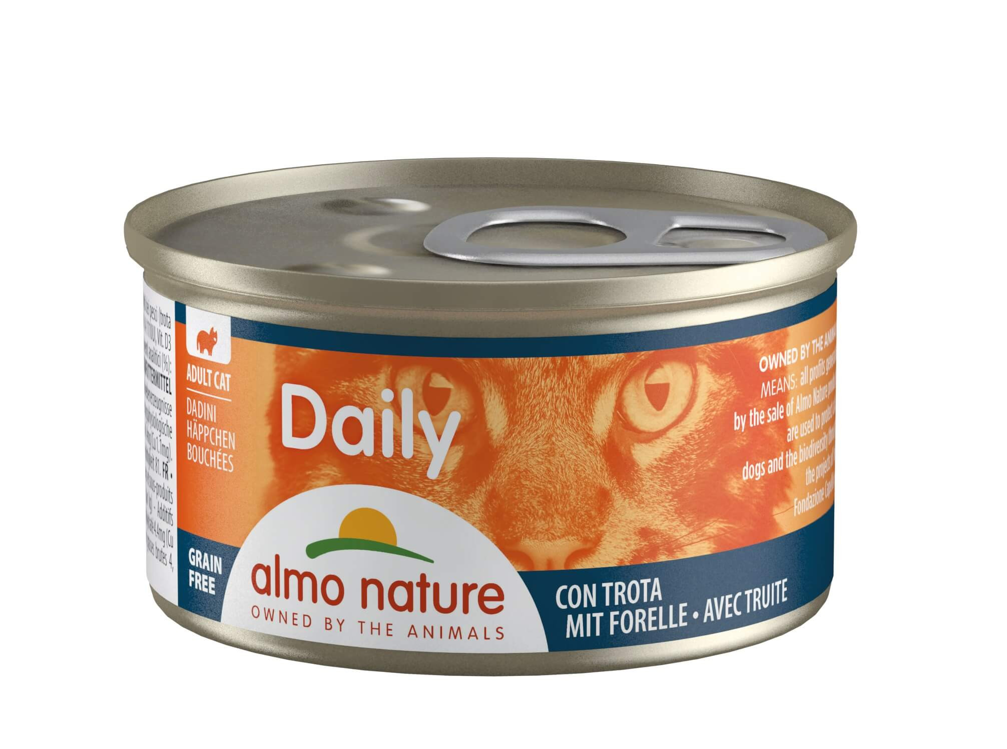 Almo Nature Daily Happen mit Forelle 85 Gramm
