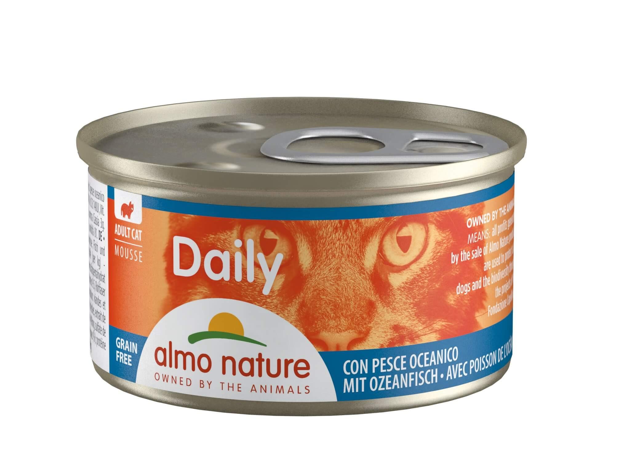 Almo Nature Daily Mousse mit Ozeanfisch 85 Gramm