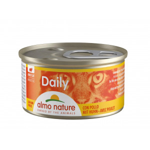 Almo Nature Daily Mousse mit Huhn 85 Gramm