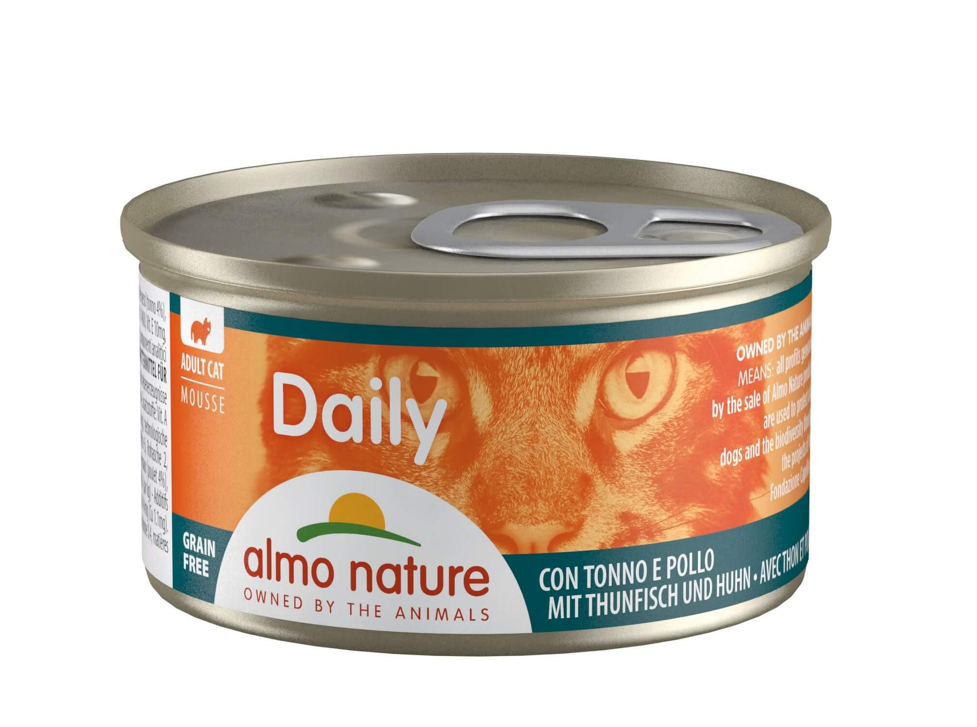 Almo Nature Daily Mousse mit Thunfisch und Huhn  85 Gramm