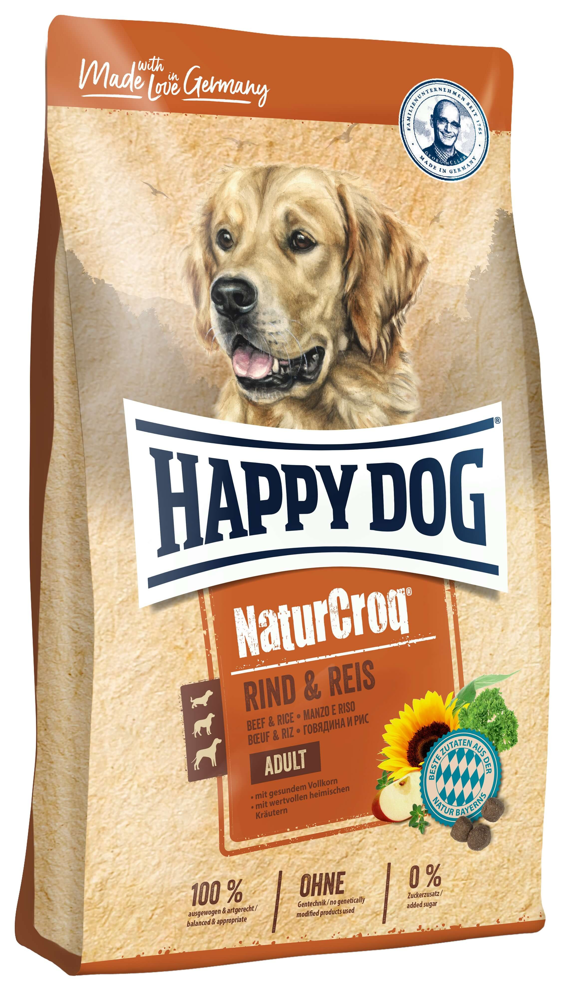 Happy Dog NaturCroq Rind mit Reis Hundefutter