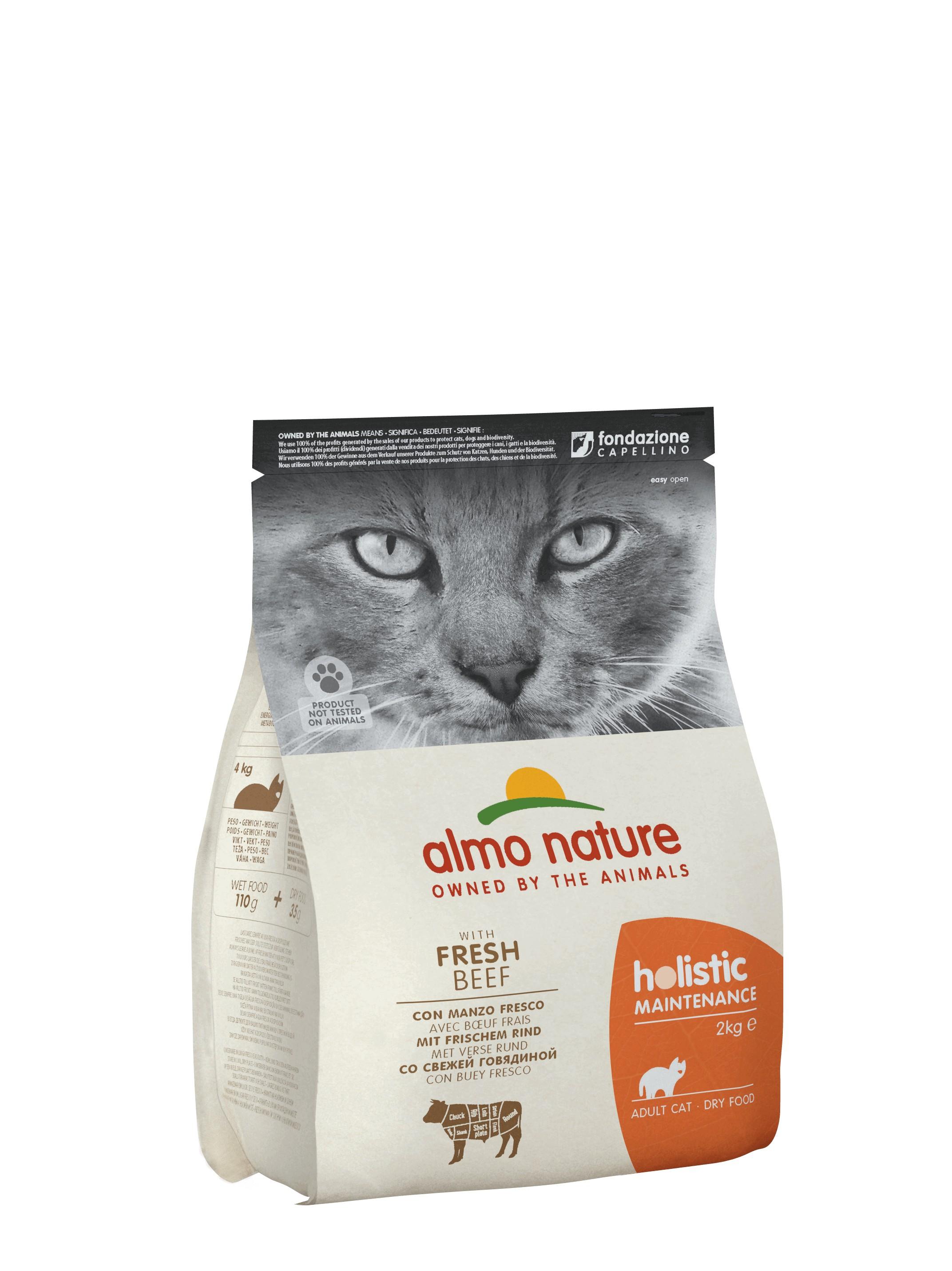 Almo Nature Holistic Cats Adult Rind & Reis Katzenfutter