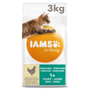 Iams For Vitality Adult Sterilised Kip kattenvoer