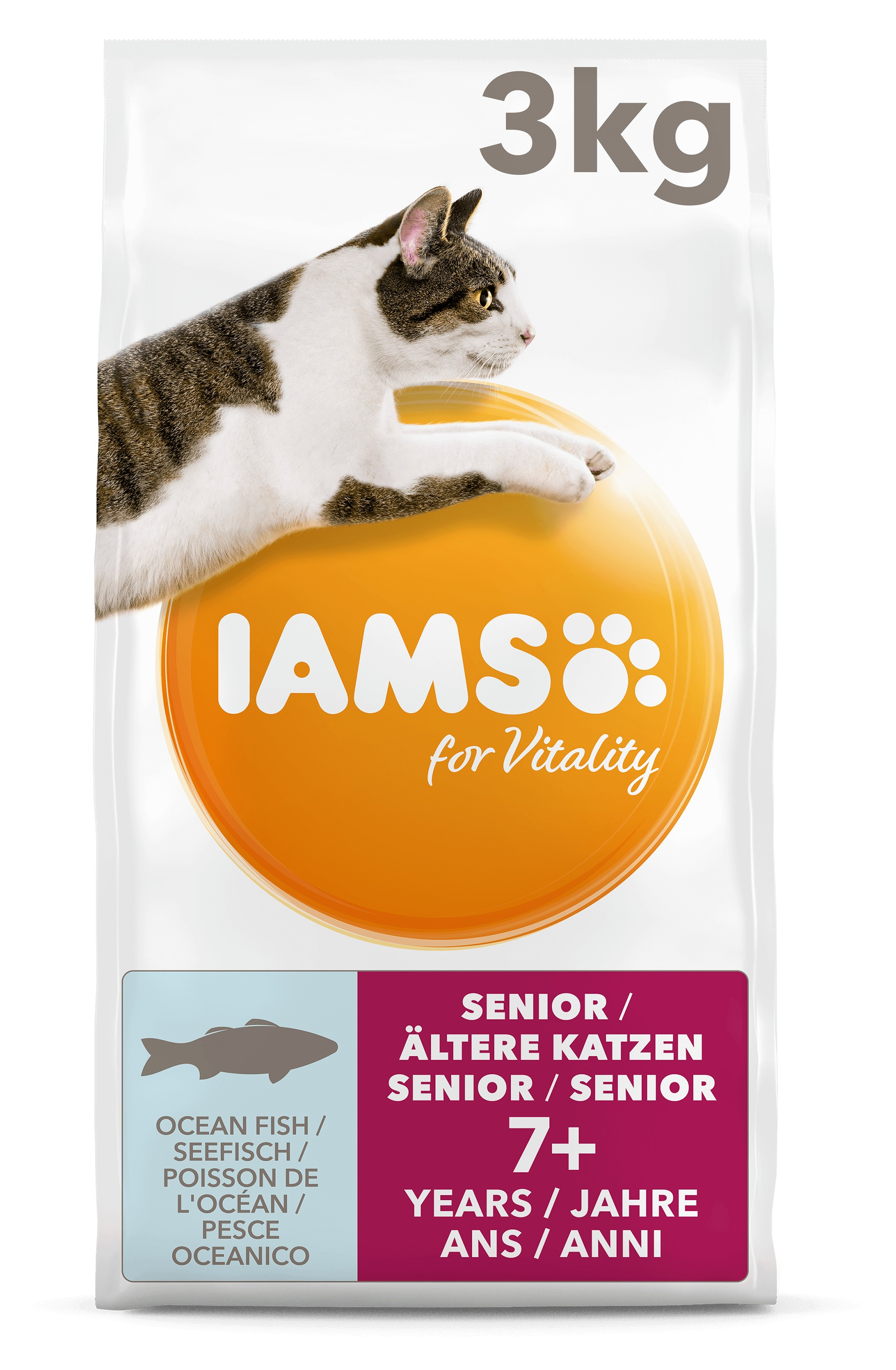 Iams For Vitality Senior Vis kattenvoer