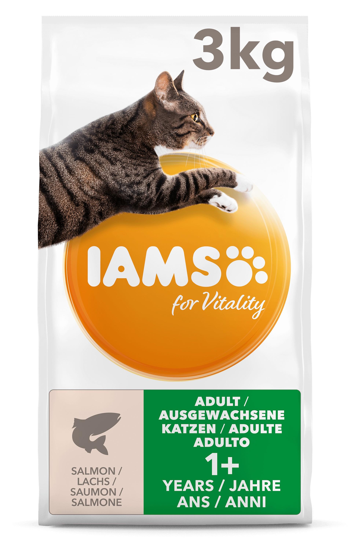 Iams For Vitality Adult Zalm kattenvoer