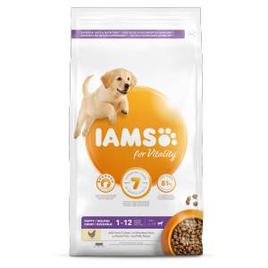 Iams for Vitality Puppy Große Rassen Hundefutter 2 x 3 kg