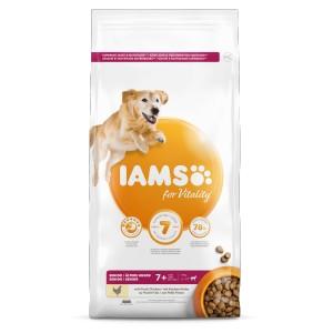 Iams for Vitality Senior Große Rassen Huhn Hundefutter 2 x 3 kg