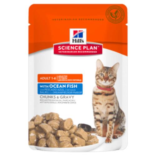 Hill's Adult Pouch Ozeanfisch Katzenfutter