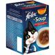 Felix Soup Farm Selection Katzensuppe 6 x 48 g