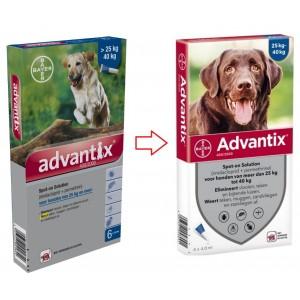 Advantix 400/2000 für Hunde von 25 bis 40 kg