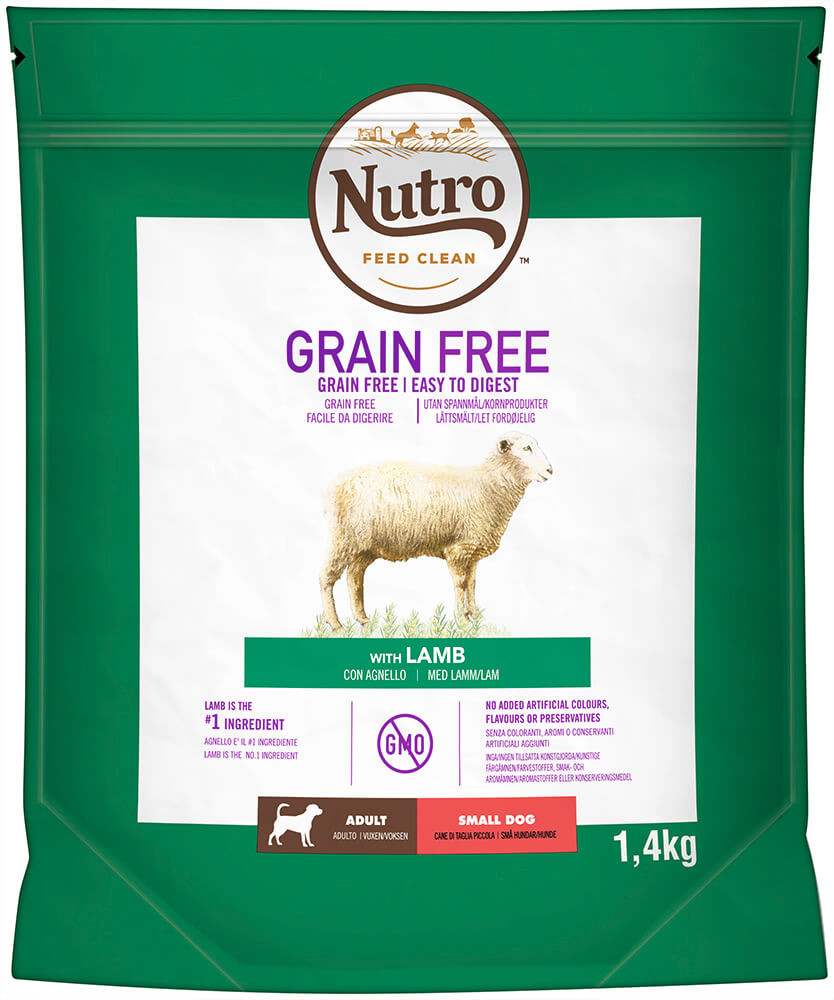 Nutro Grain Free Adult Small Lam hondenvoer