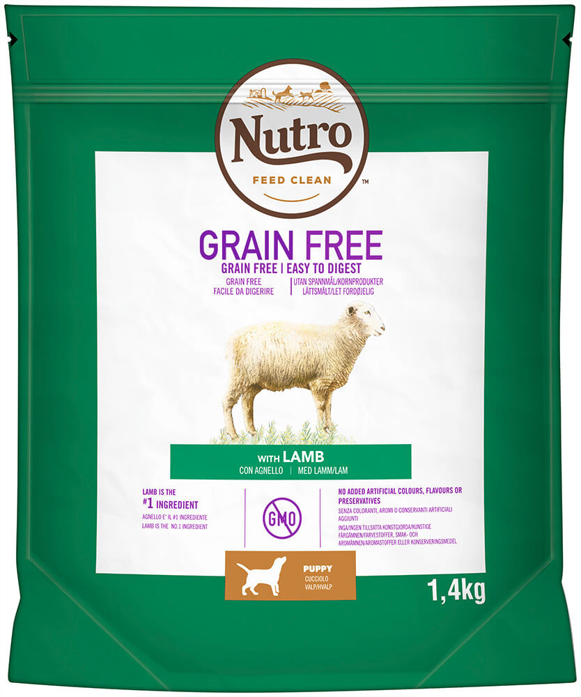 Nutro Grain Free Puppy Medium Lam hondenvoer