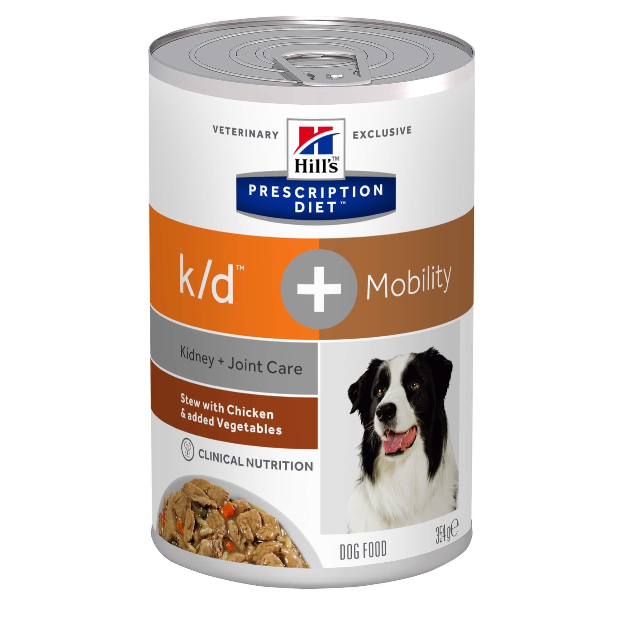 Hill's Prescription Diet K/D + Mobility Stoofpotje 354 g blik hondenvoer