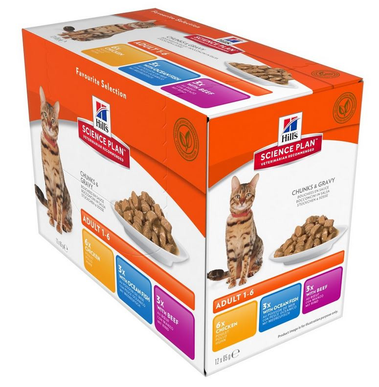 Hill's Optimal Care Pouch Adult Favourite Selection Katze