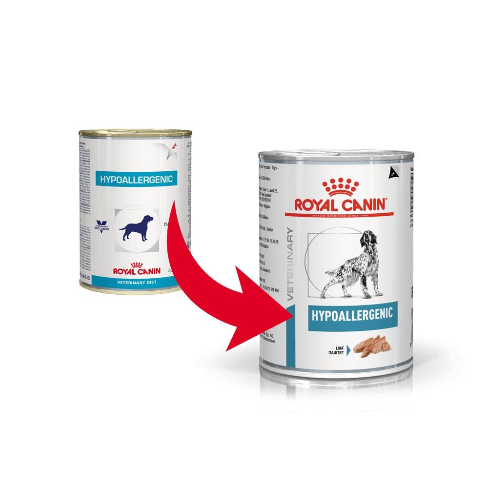 Royal Canin Veterinary Diet Hypoallergenic Hundefutter (Dosen)