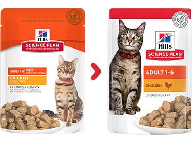 Hill's Adult Huhn Pouch Katzenfutter