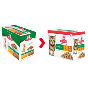 Hill's Kitten Poultry Selection Combi Huhn Truthahn Katzen-Nassfutter