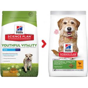 Hill's Mature Adult Senior Vitality Small Mini Hundefutter mit Huhn