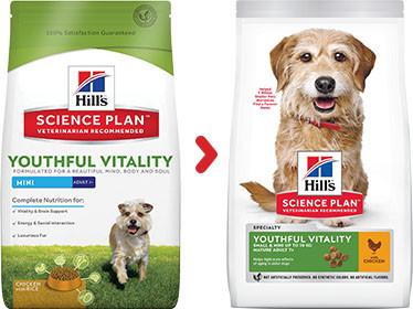 Hill's Adult 7+ Youthful Vitality Mini Hühnchen Hundefutter