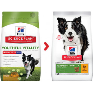 Hill's Adult 7+ Youthful Vitality Medium Huhn Hundefutter