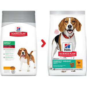 Hill's Perfect Weight Medium Huhn Hundefutter