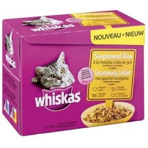 Whiskas Portionsbeutel Sanfte Küche Gegrilltes Geflügel Katzenfutter in Gelee