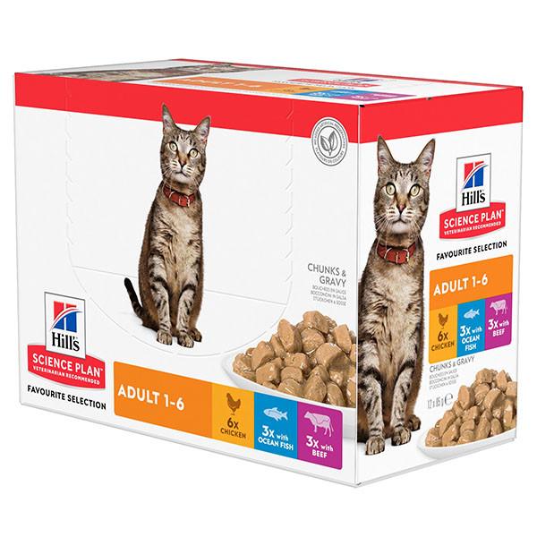 Hill's Adult Favourite Selection Multipack Katzen-Nassfutter 85 g