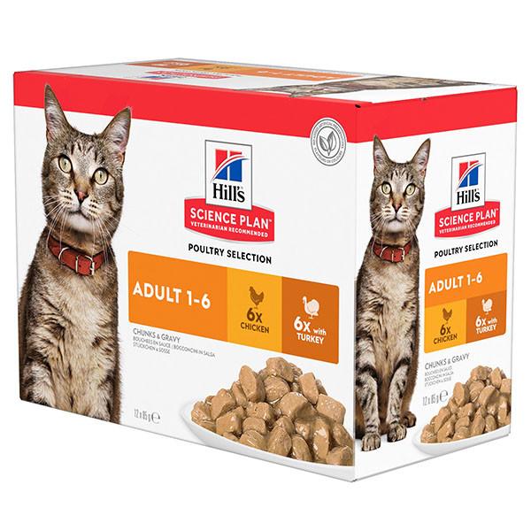 Hill's Adult Poultry Selection Combi Katzen-Nassfutter