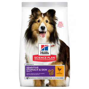 Hill's Adult Sensitive Stomach & Skin Medium Huhn Hundefutter