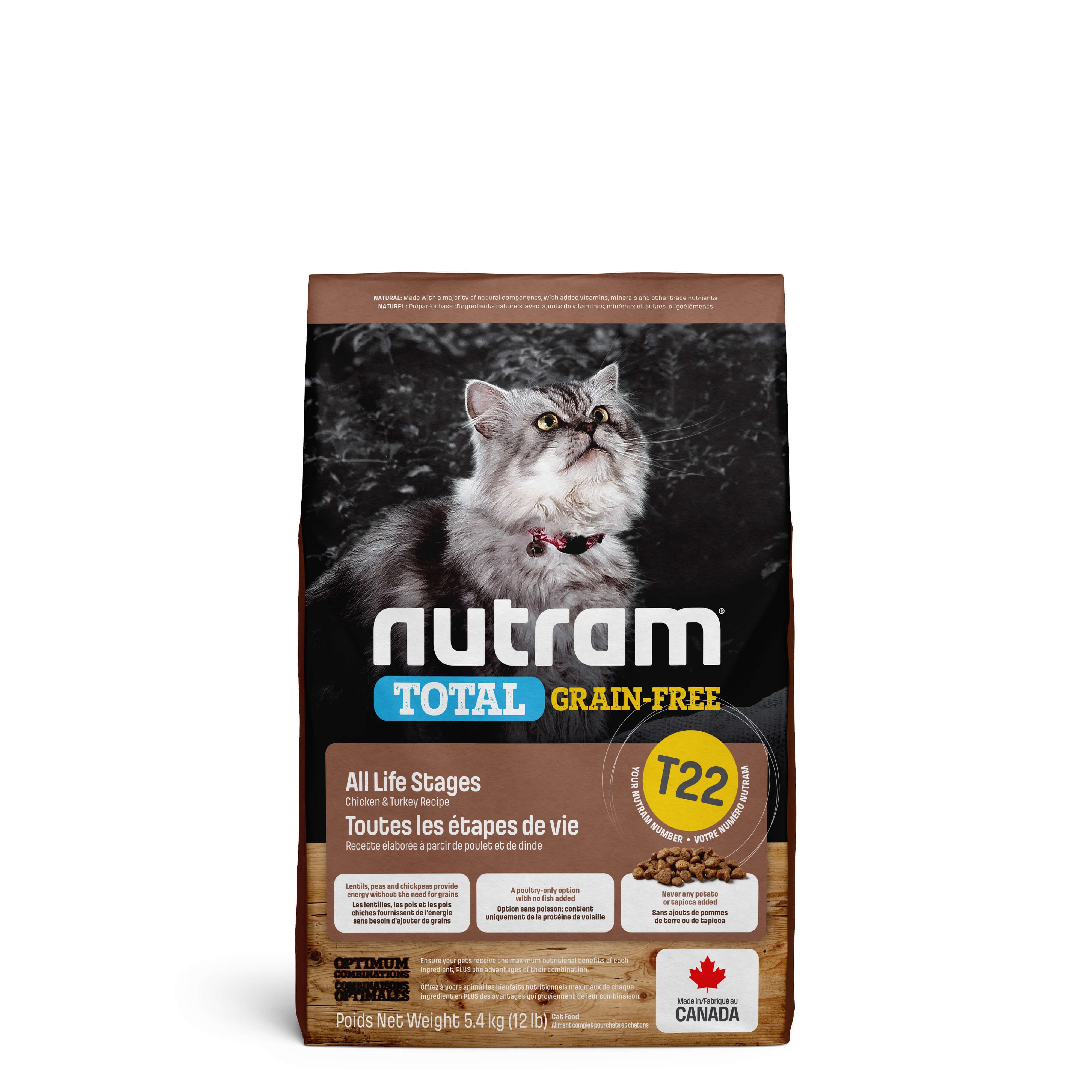 Nutram Grainfree Truthahn, Huhn & Ente T22 Katzenfutter