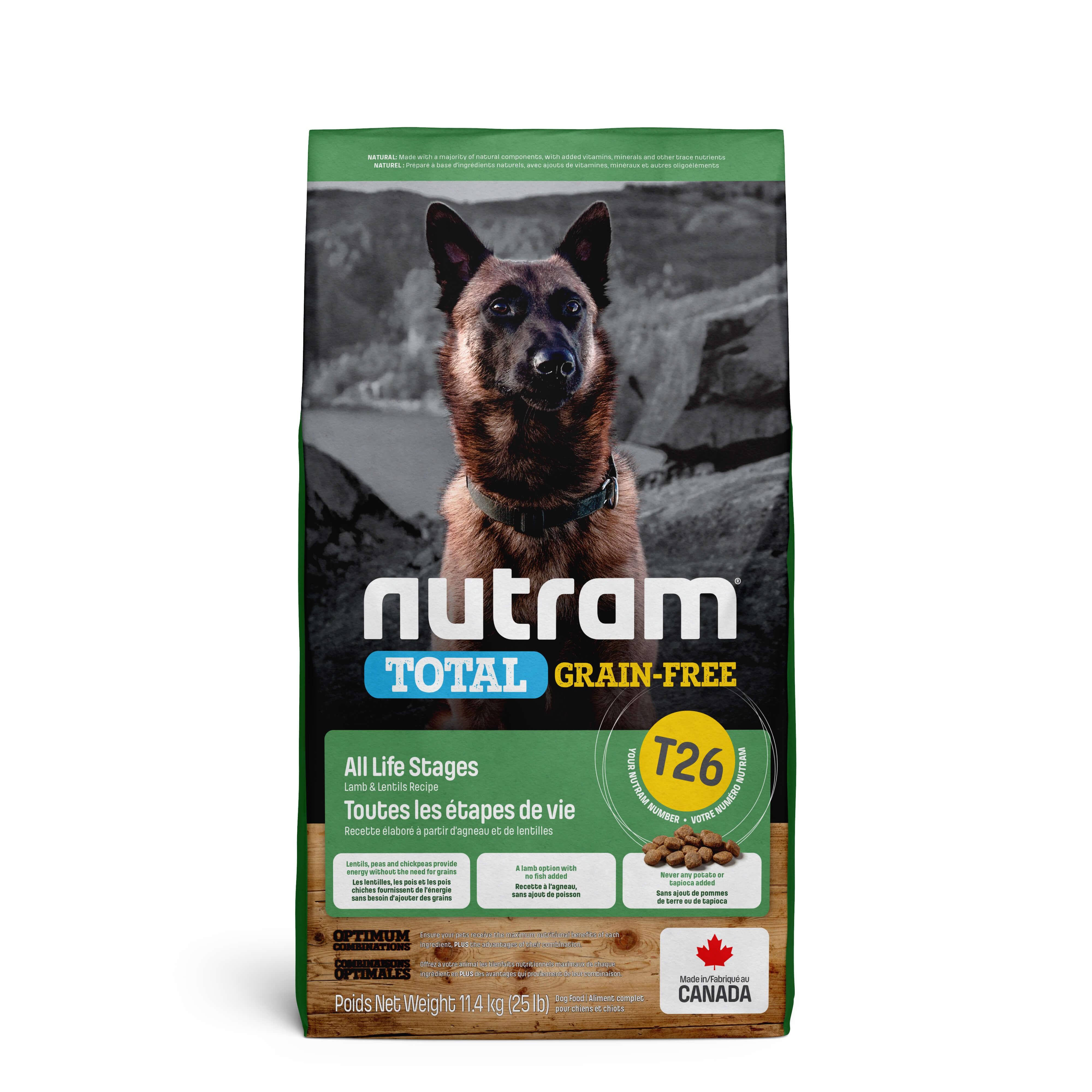 Nutram Getreidefrei Lamm & Hülsenfrüchte T26 Hundefutter