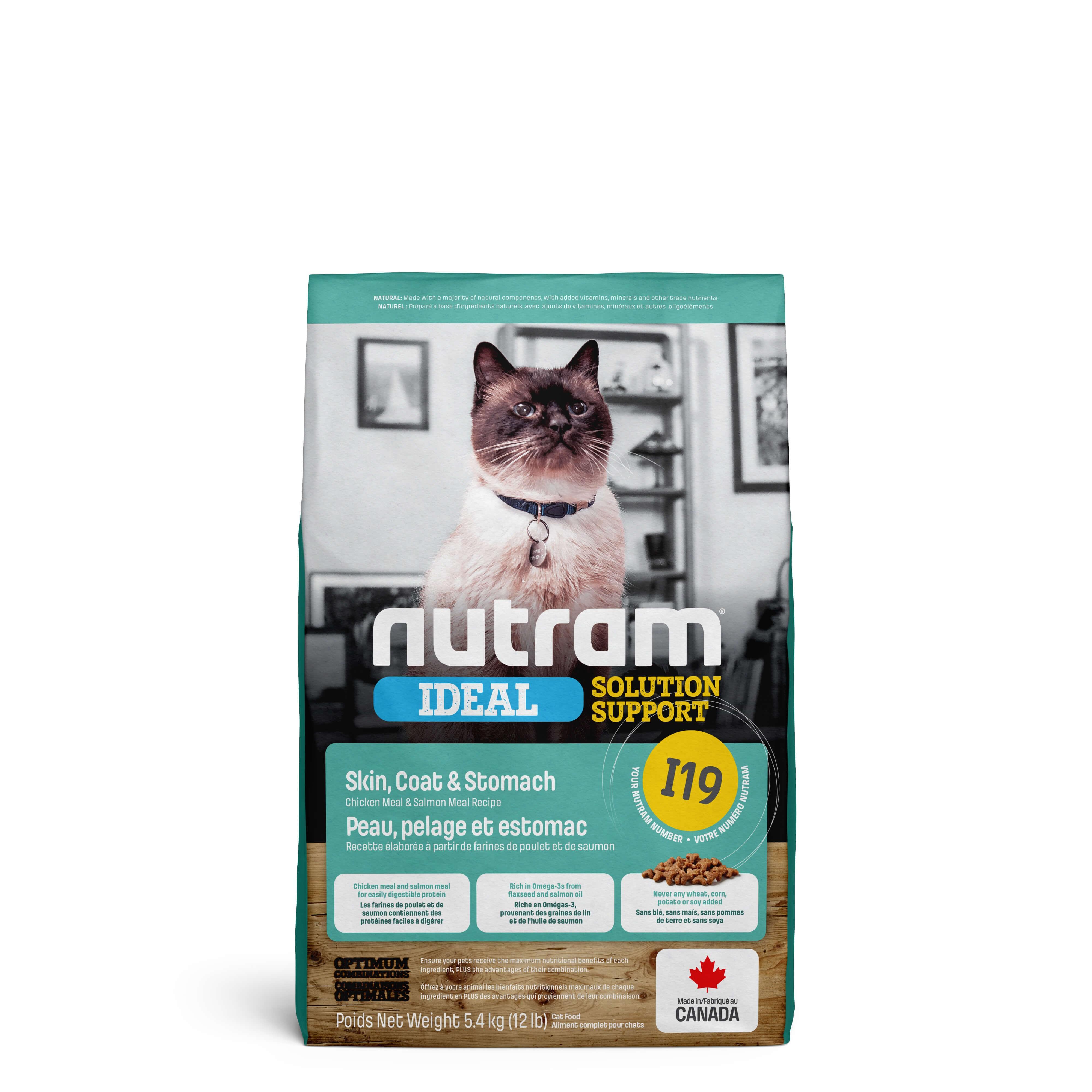 Nutram Ideal Solution Support Sensitive Skin I19 Katzenfutter