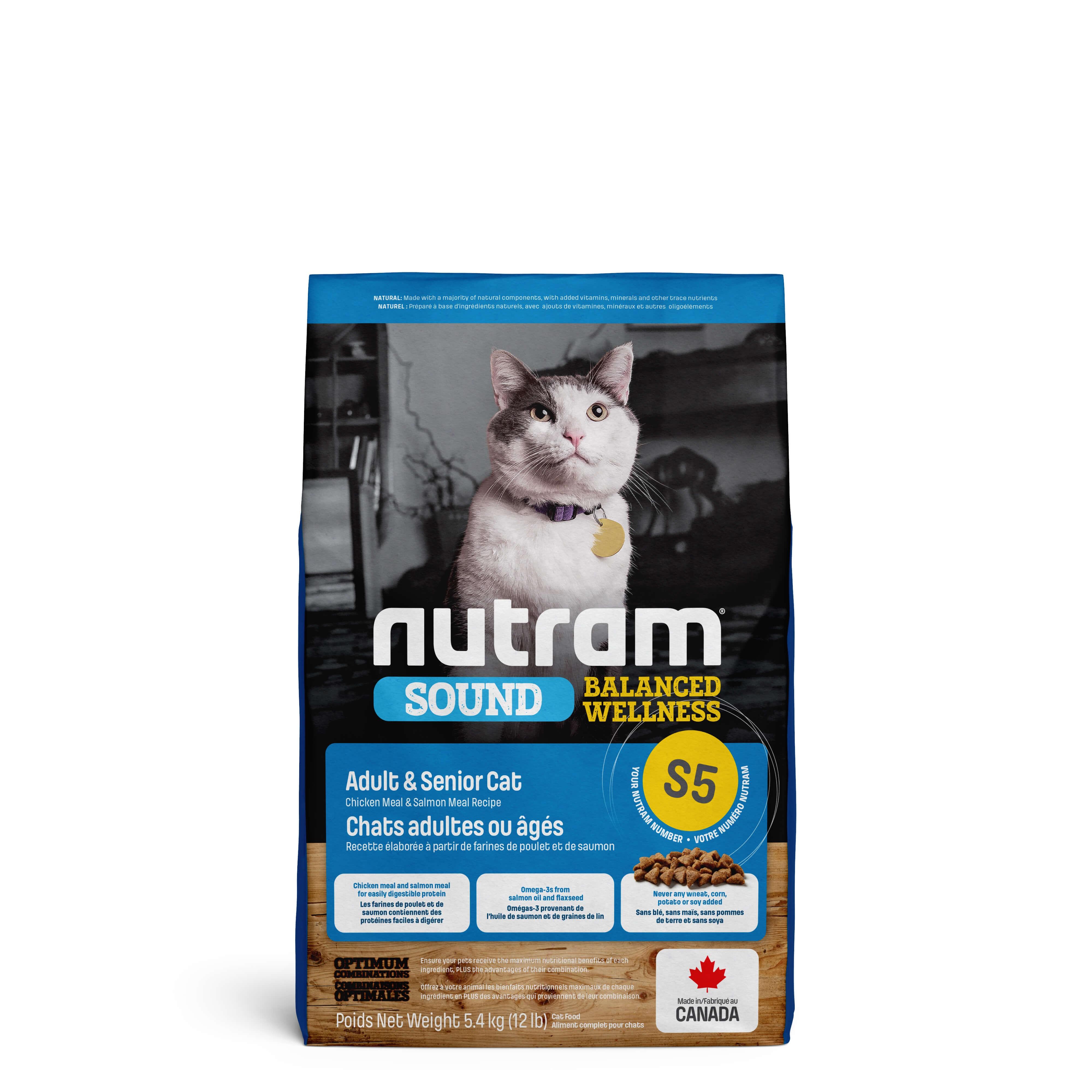 Nutram Sound Balanced Welness Adult S5 Katzenfutter