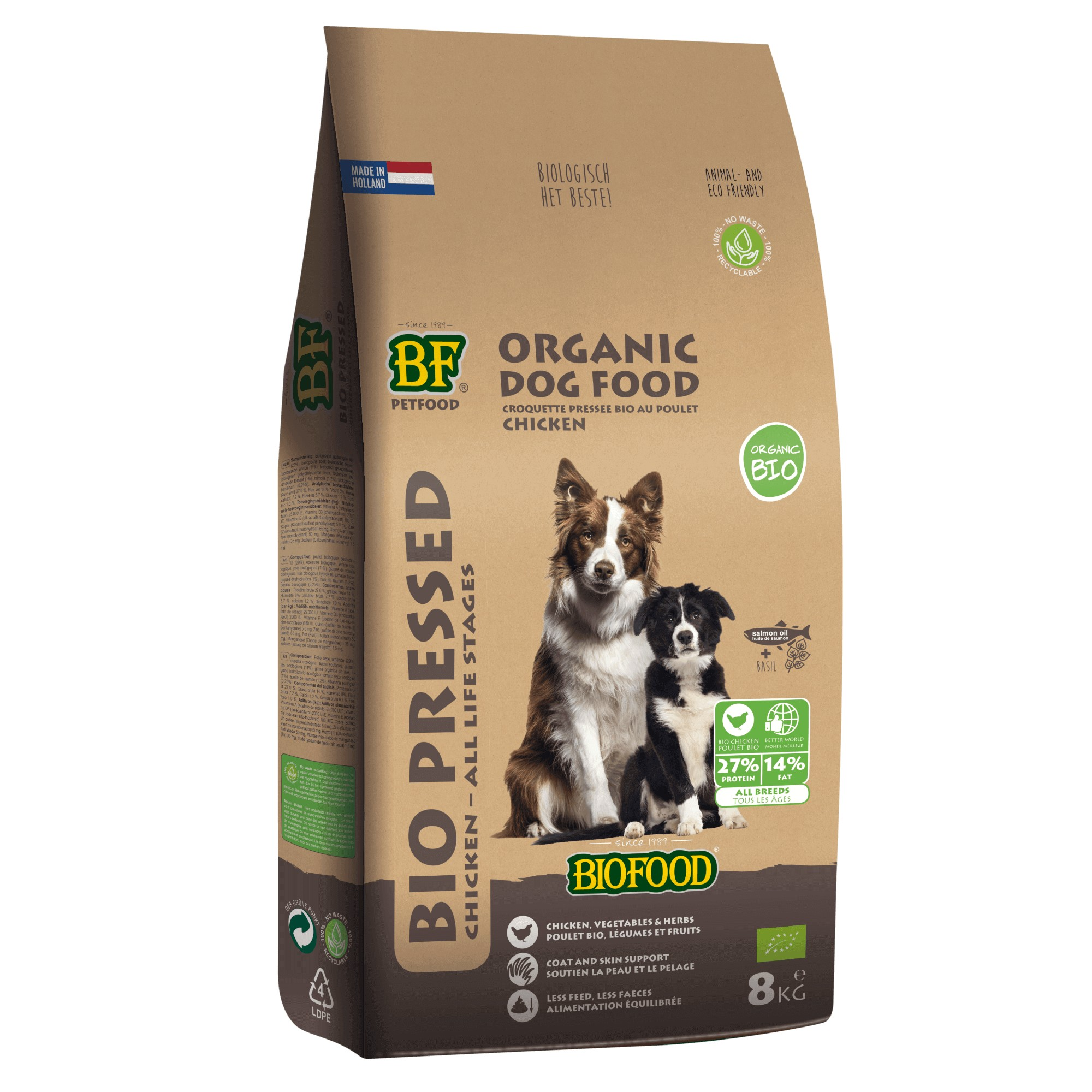Biofood Organic Geperst hondenvoer