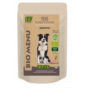Biofood Organic Kalkoen menu pouch 150 gr hondenvoer