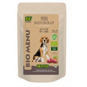 Biofood Organic Rund menu pouch 150 gr hondenvoer