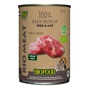 Biofood Organic 100% rundvlees blik 400 gr hond & kat