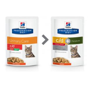 Hill's Prescription Diet C/D Urinary Stress Reduced Calorie 85 g Katzen-Nassfutter