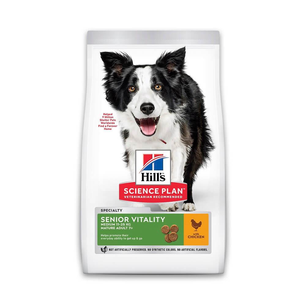 Hill's Mature Adult Senior Vitality Medium Huhn Hundefutter