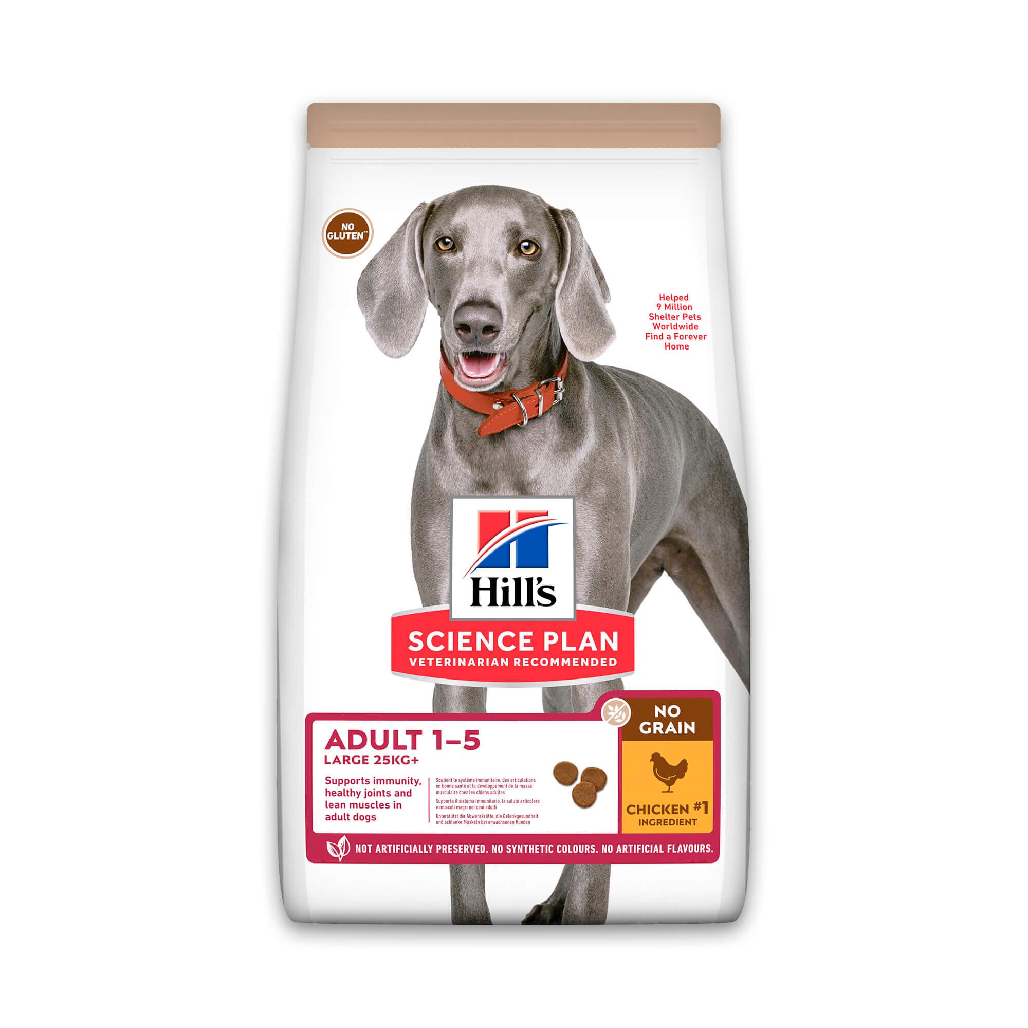 Hill's Adult Large Breed No Grain met kip hondenvoer